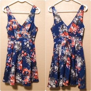 Blue Lace Floral Dress. Small. Worn Once!